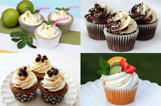 Boozy bakes: Adult-only alcoholic cupcakes  We will be serving these instead of cake at our wedding . Thankfully we know someone that can make them .