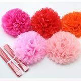 10inch (25cm) pompon Tissue Paper Pom Poms Flower Kissing Balls Home Decoration Festive Party Supplies Wedding Favors