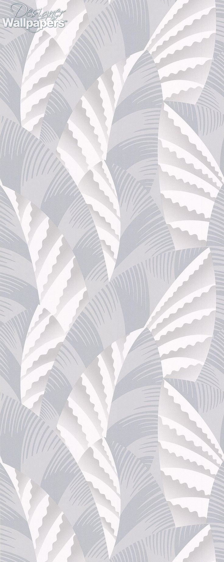 Featured on the October 2016 cover of Homes and Antiques magazine, this elegant and unusual wallpaper is made up of stylised Art Deco leaves that are inspired by the spire on the Chrysler Building in New York. It's been a well-known feature on the city's skyline since 1930 and is still the tallest brick building in the world. Chrysler is a smart and modern design that's also stylish and understated.    (Produced on a 52cm wide, 10m roll. The pattern repeat measures 64cm with a straight…