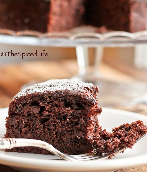 Dark Chocolate Olive Oil Cake: SUPER easy, healthier, delicious, rich and indulgent!