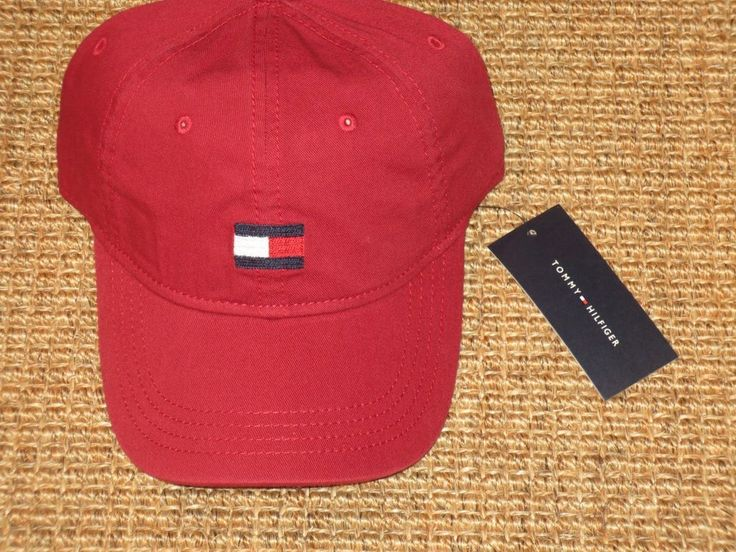 TOMMY HILFIGER  BASEBALL CAP  MEN'S  BIG FLAG LOGO   RED  SPORT CLASSIC NEW #TommyHilfiger #BaseballCap