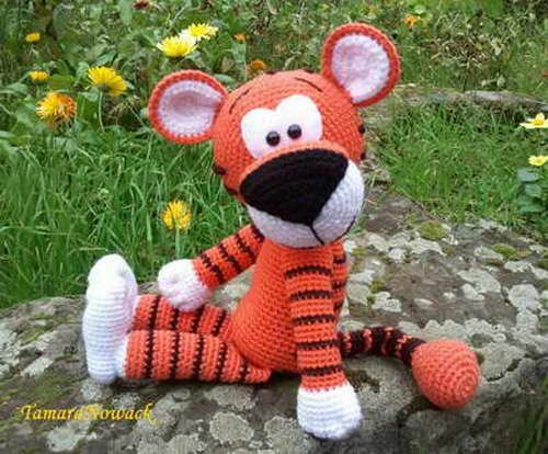 Soft Toy Tigger - free pattern in Russian