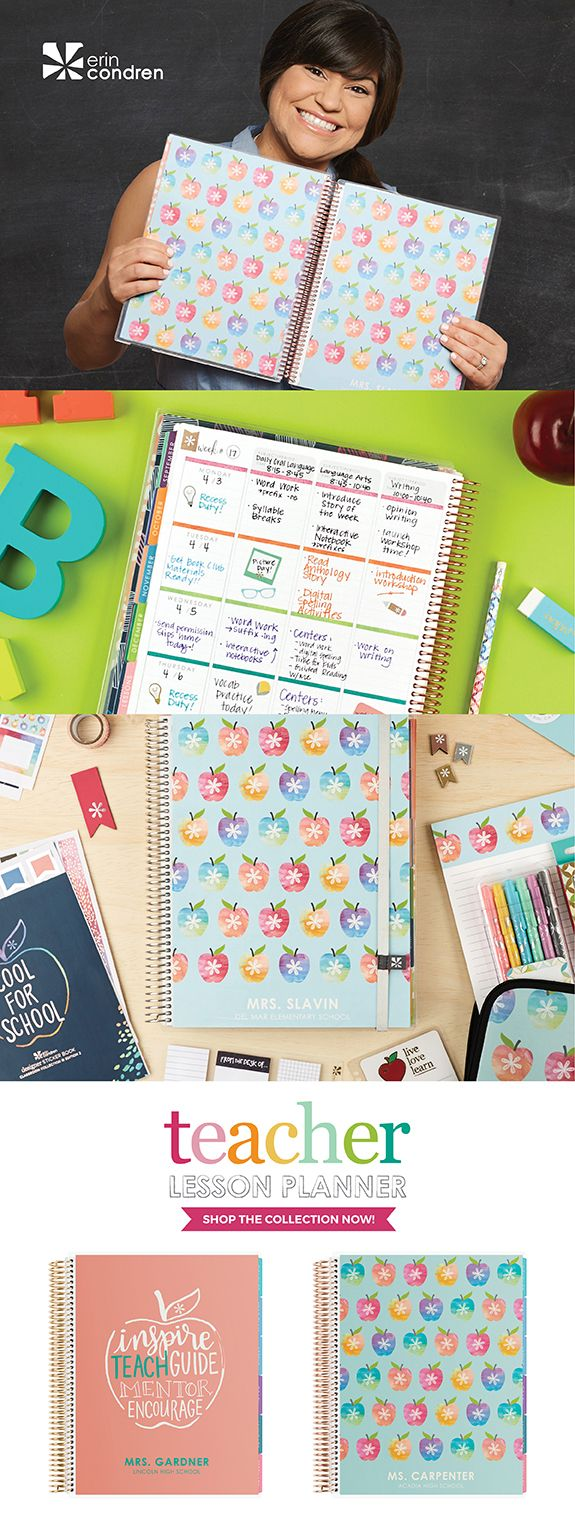 Bring color to the classroom! Simplify and stylize each week with our new Teacher's Lesson Planner.    TEACHING TOOLS:  -  40 Weeks of Lesson Planning -  12 Month Calendar Spreads With Goals Page Before Each Month -  Double-Page Checklists & Reusable Sheet Protectors -  Plan for It Pouch & Keep It Together Folder Included - Choose Your Coil: Platinum, Rose Gold or Gold