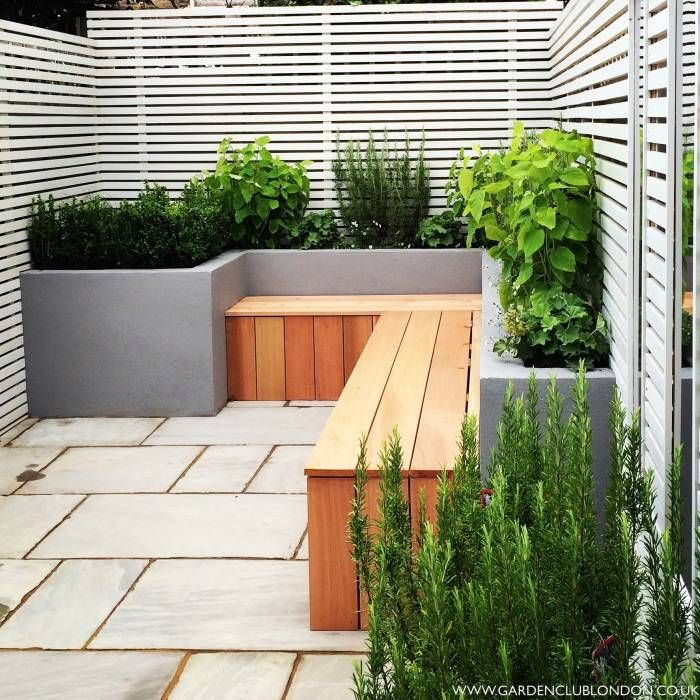 Small back garden design: modern Garden by Garden Club London