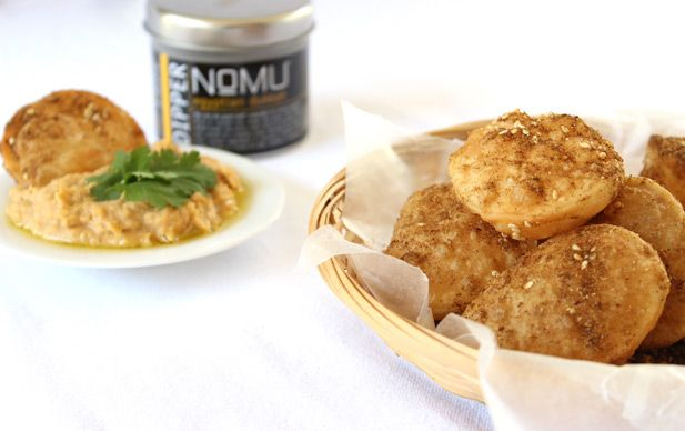 NoMU recipes: Puri with butter bean dip and dukkah
