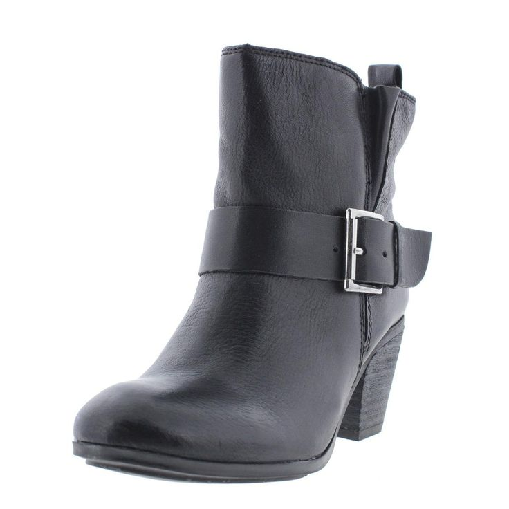 Fergie Women's Country Too Boot,Black,6 M US. Leather. Stacked. Motorcycle. China. The heel height is 2 1/4 inches and the color is Black.