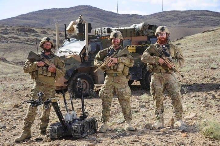 Royal Australian Navy Clearance Diving Team members at Patrol Base Wali in Afghanistan.