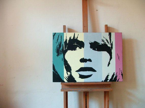 Brigitte Bardot mid century movie star portrait by HardLineStudio