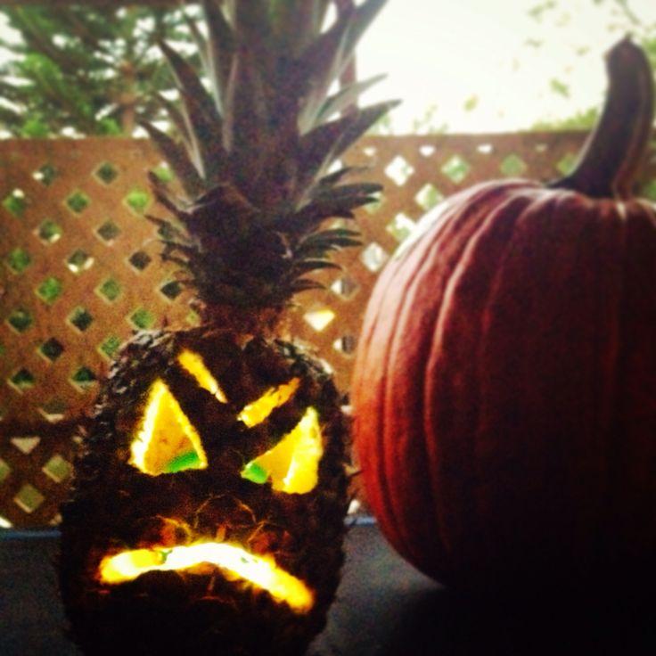 Pineapple carving halloween 2014