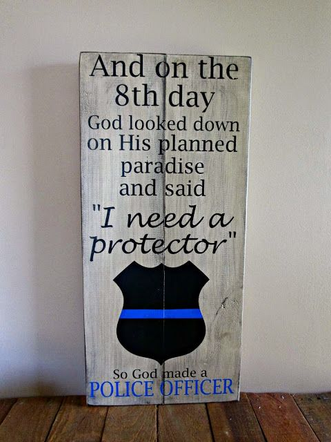 Northwoods Attic: On The 8th Day Police Officer Thin Blue Line