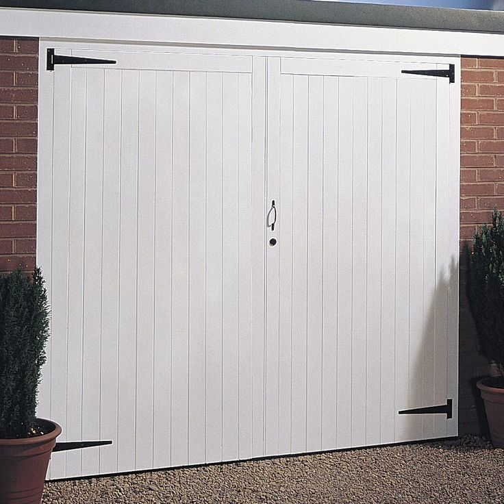 Available Separately Side Hung Pair Of Doors Garage Door, (H)2134mm (W)2134mm | Departments | DIY at B&Q