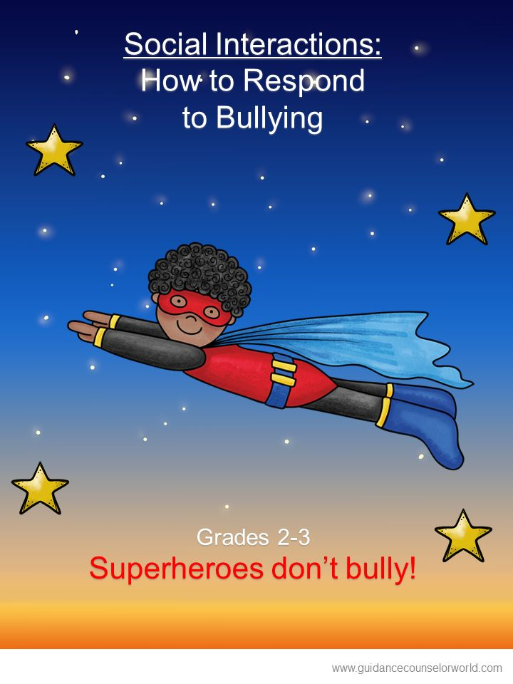 Guidance lesson on Social Interactions, for Grades 2-3.Teach students when they are bullied they have options of how to react, how to deal/respond with bullying. NEVER create another guidance lesson again with our aligned K-6 guidance lessons! We've got more GUIDANCE LESSON Plans, all which are aligned for grades K-6! Each lesson plan has a Word doc for each grade level and a PDF that includes all interactive activities and printables. Bullying | Social Interactions | Elementary Guidance…
