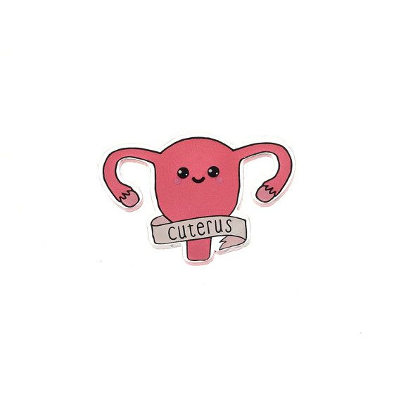 Cuterus Acrylic Pin brooch with clutch back // Feminist pin, Girl power pin badge, Ovaries before Brovaries, Uterus //BRCH38