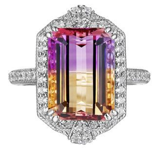 Judith Ripka Sterling Silver Ametrine & Diamonique ring - J344923