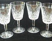 "Set 4 Waterford Crystal LISMORE 6-7/8"" Water Goblets Stems - more available"
