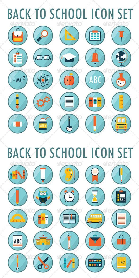 50 School And Education Icons - Web Elements Vectors