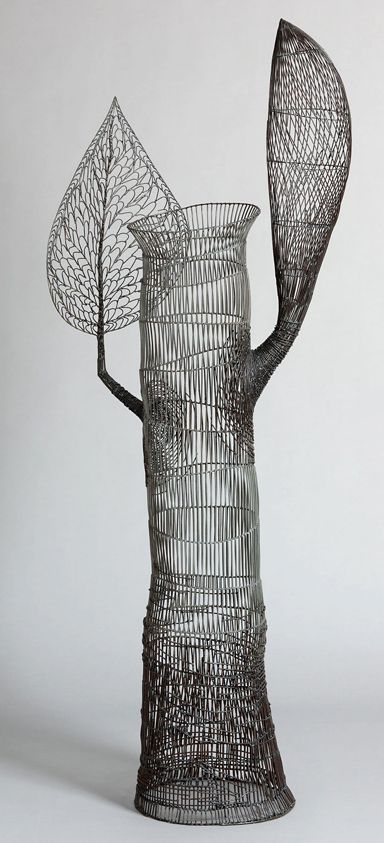 Black art Glenn Murray.   Wire sculpture, test the flexibility of the wire if you want more detail/ less structural strength