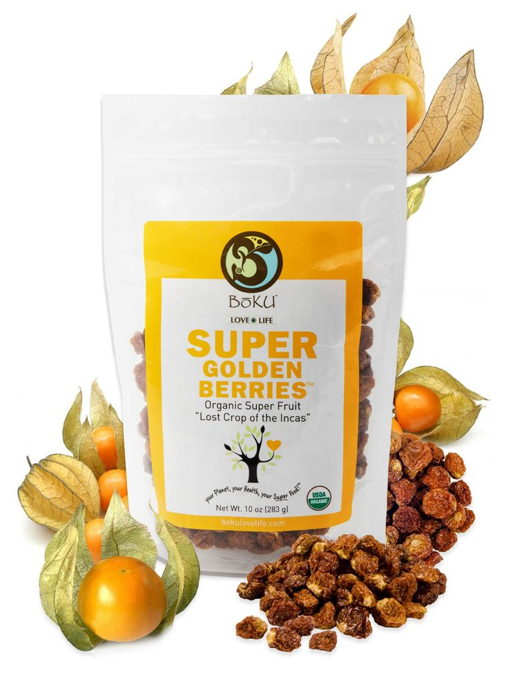 ORGANIC & delicious Golden Berries Delivers NATURALLY formed Vitamin C and fiber Delectably SWEET & TANGY snack from PERU Use in smoothies, trail mix, or snack straight from the bag Organic, Vegan & Kosher snack