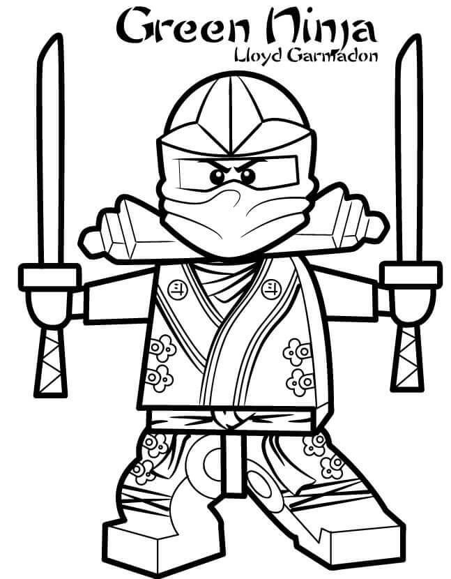 Lego Ninjago Green Ninja Coloring Page Kalub In 2018 Pinterest - Green-ninja-coloring-pages