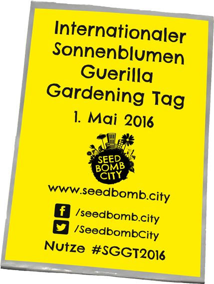 Internationaler Sonnenblumen Guerilla Gardening Tag am 1. Mai 2016.