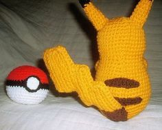 WolfDreamer's Pikachu Plushie Pattern. This is a free pattern, and it looks fantastic! Head over to WolfDreamer's blog to see all of the other Pokemon/Sonic & Tails/Mario patterns that she has up for free! ::Jo::
