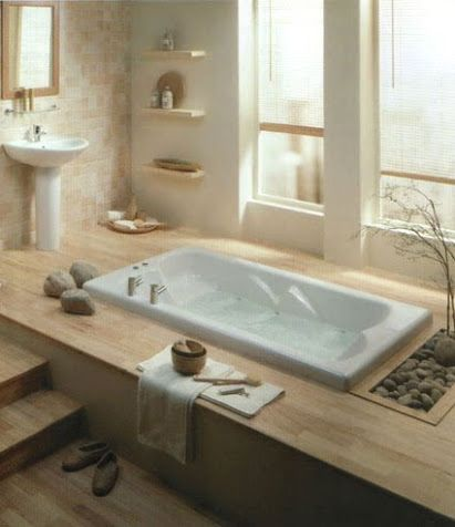 Decorating Addiction: Zen Bathroom Inspiration