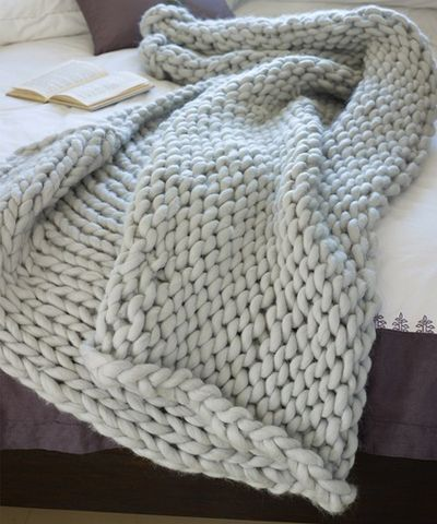 Knitted throw.