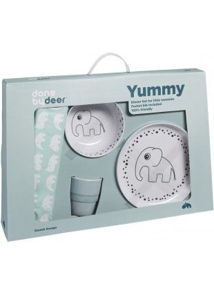 Done by Deer Kinder Geschirr-Set Happy Dots Elphee Blau