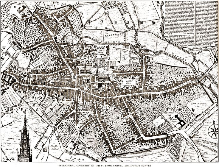 Coventry is still medieval (in 1749) without any Industrial Revolution, so no terrace blocks.