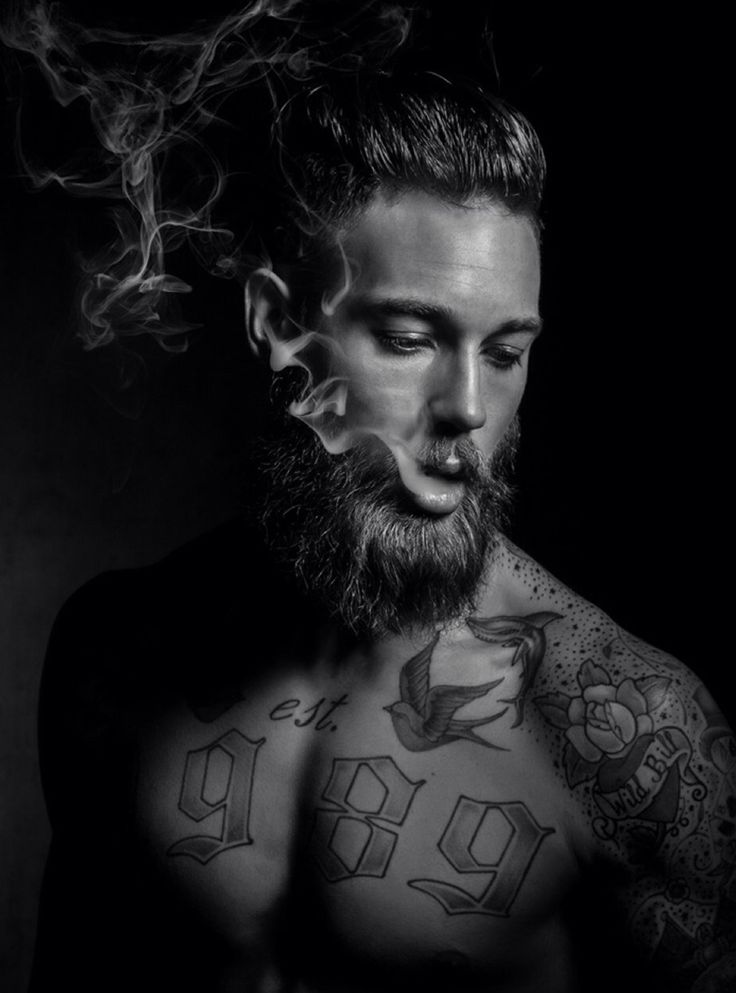 "Model: Billy Huxley   Photographer: Lee Roberts   Grooming: Tom Harrigan ""My tattooist Sean works in Gants Hill, Essex, his shop is called Steel Beauty."""