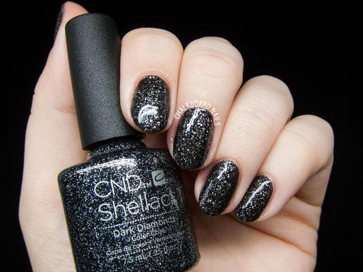 CND Shellac Dark Diamonds @chalkboardnails
