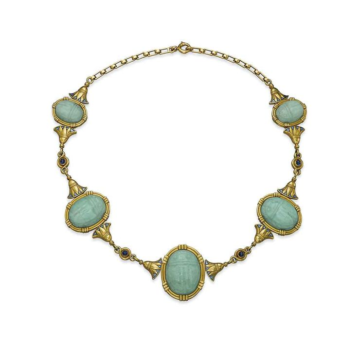 an amazonite sapphire and enamel scarab necklace by ren boivin christiesjewels