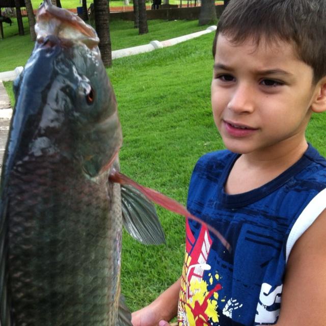 Dio pescando na Fazenda Maeda, Itu, Brasil