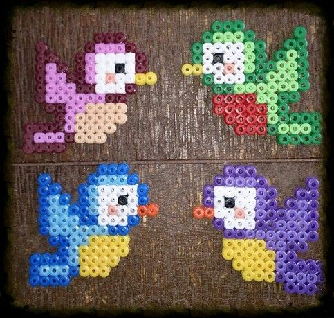 Birds hama beads by Karin Offers