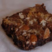 Our Coconut Almond brownies have enough sweet coconut and almond chunks that will leave you wanting more and more!