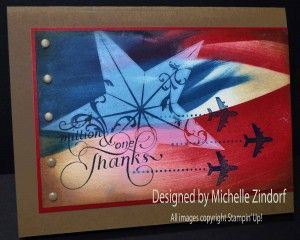 A Million & One Thanks – Stampin' Up! Card by Michelle Zindorf