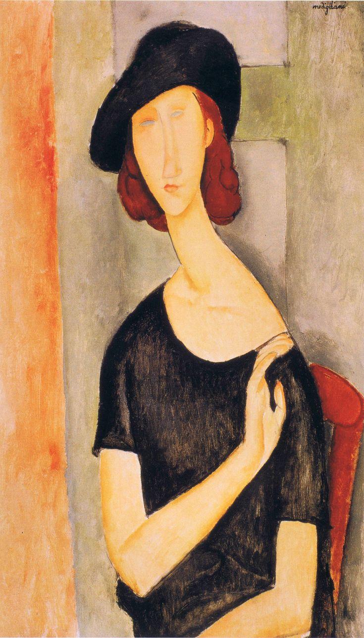 "Амедео Модильяни (Amedeo Modigliani) (1884-1920) «Портрет молодой девушки» (""Portrait of Unknown Girl). Подписана ""Modigliani"""