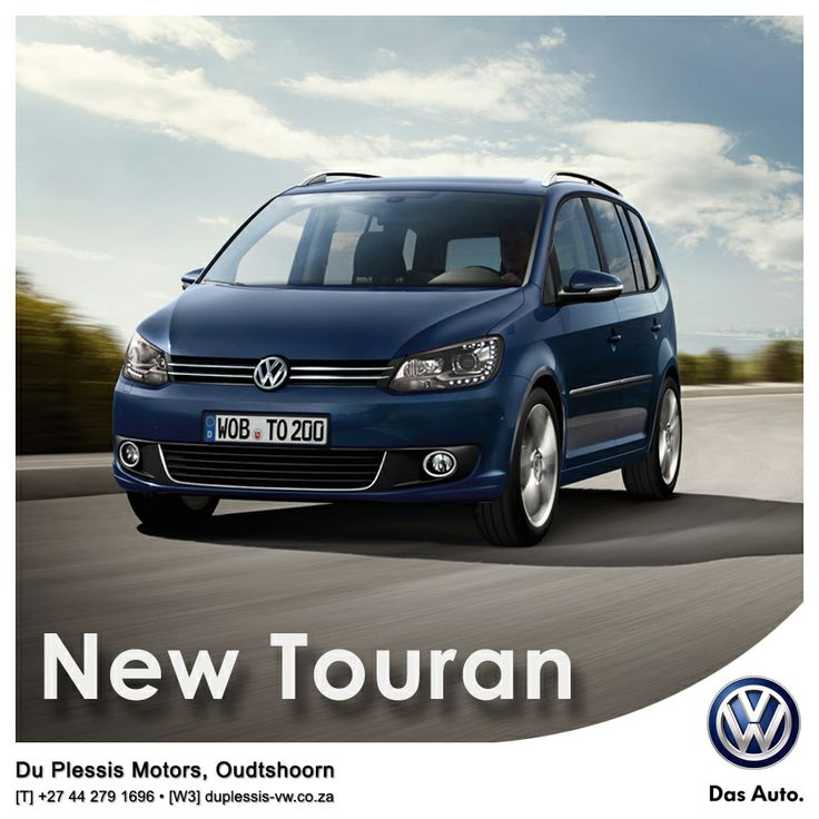 New Volkswagen Touran. For everyone and everything. The spacious interior, versatile seating combinations and multiple storage compartments give you room to be flexible and mean that you're always ready for anything. The New Touran's contemporary exterior is handsome, dynamic and sporty, clearly showing off the new face of Volkswagen, giving you a car that is both versatile and good-looking. website: http://besociable.link/4B #Volkswagen, #Oudtshoorn #Touran