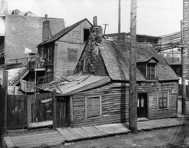 Poverty was prevalent in Montreal in the early twentieth century and the houses of the poor were often dangerous and unhealthy. Description from virtualmuseum.ca. I searched for this on bing.com/images