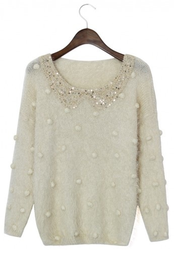 Sequins Collar Sweater