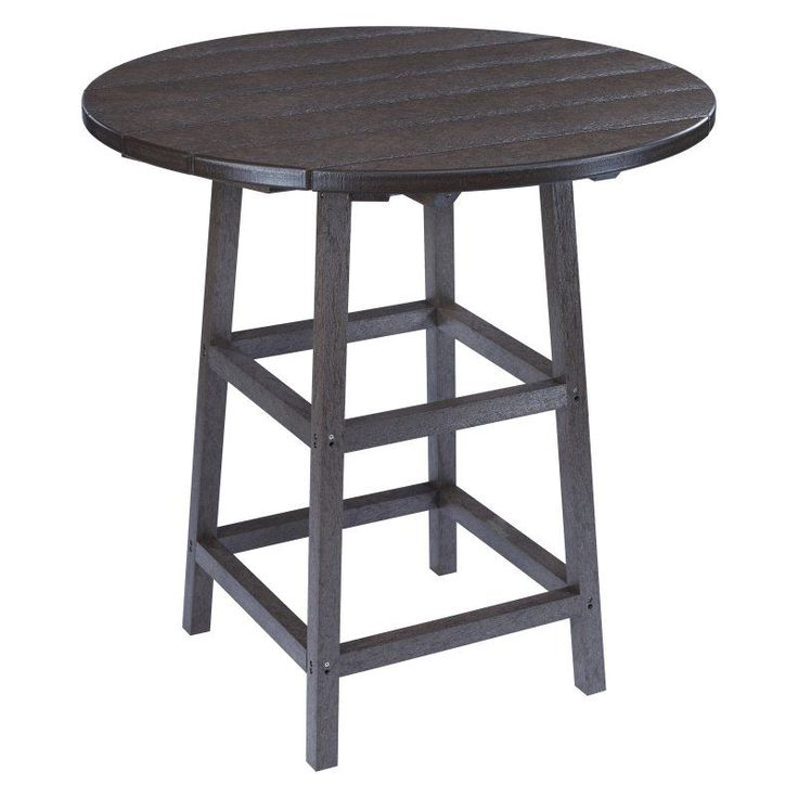Outdoor CR Plastic Generations 32 in. Round Pub Height Table Black - TBT03-14