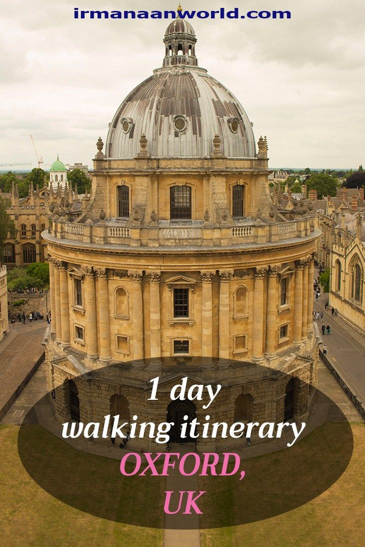 1 day Oxford Itinerary: see the town by walking