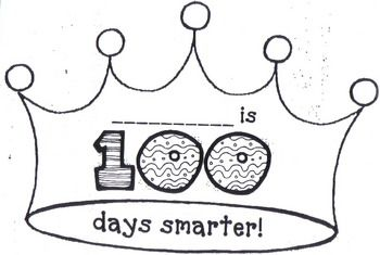100th day of school crown template - 17 best images about 100 day activities on pinterest