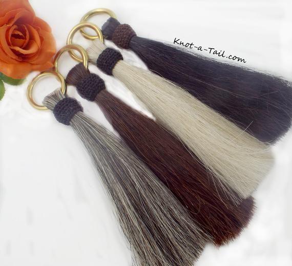 """girth Black horsehair horsehair tassel Horsehair tassel shoo fly 12/"""" long"""