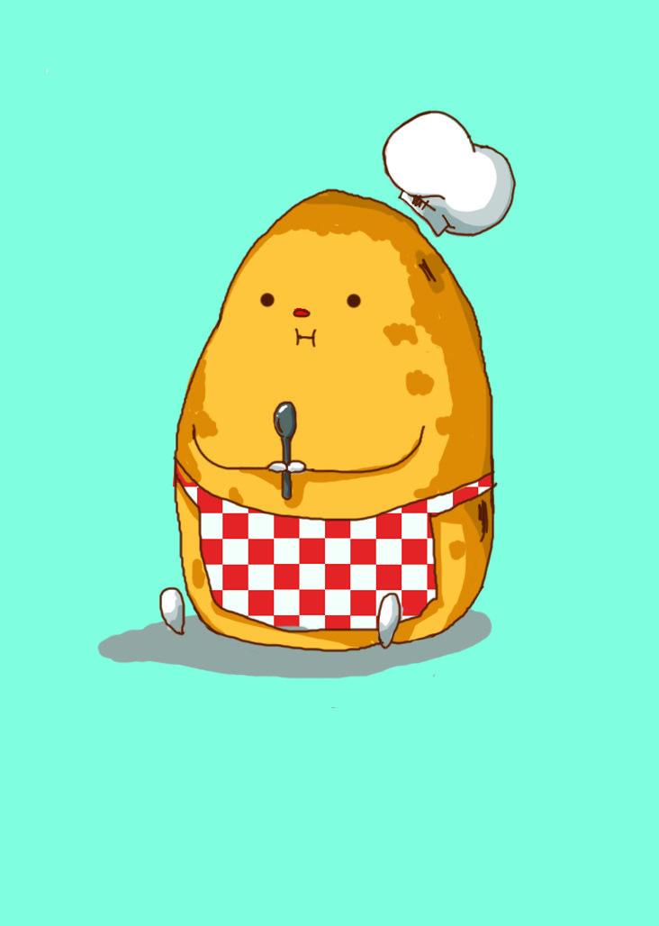 Potato   #food #illustration #doodle #art #artwork #sketch #chef