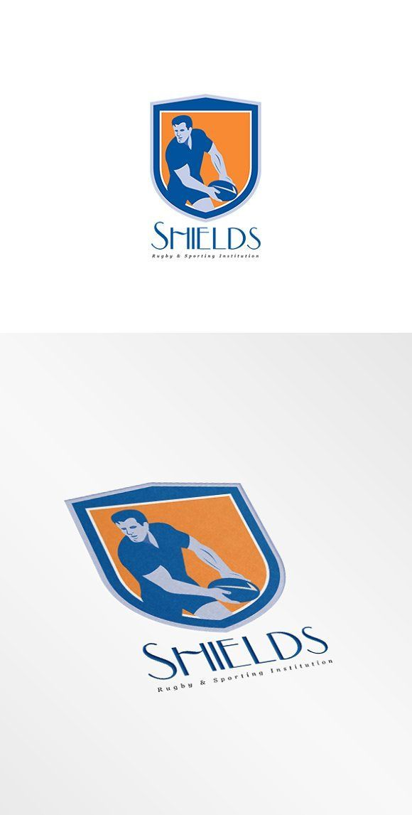 Shield Rugby Sports Logo by patrimonio on @creativemarket