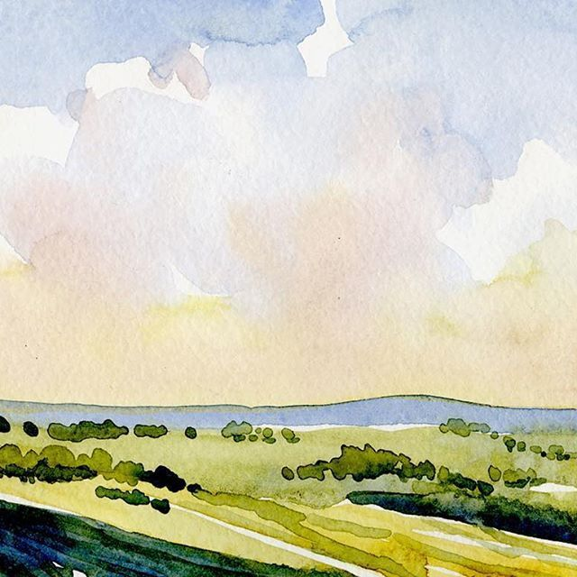 Small Watercolor Landscape From A Couple Of Years Ago Dongore
