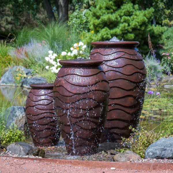 Scalloped Urn Resin Fountain Water Fountains Outdoor Aquascape Water Fountain