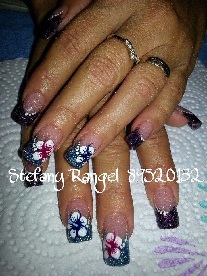 nails art flower