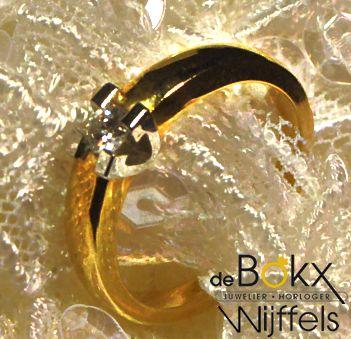 Verlovingsringe Volonte | €1130  Diamant 0.15ct   Geel gouden ring  #aanzoekring #juwelier #goudenringen